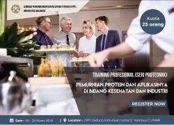 Training Profesional (Seri Proteomik) Pemurnian Protein dan Aplikasinya di Bidang Kesehatan dan Industri