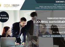 Training Intensif Profesional E-Journal Management